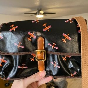 Fossil waxed canvas airplane bag